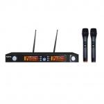 Radiomicrofono doppio palmare uhf (set 7822) doppio 740/790 mhz