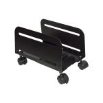 Carrello porta pc in metallo nero con ruote