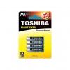 Batteria mini stilo aaa alcaline toshiba conf. 4pz