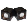 """Speakers stereo black link lksp01 jack 3,5"""" alim. usb"""