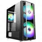 Case atx itek majes 20 gaming 2*argb fan glass (f+l) no psu