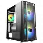 Case atx itek majes 20 gaming 2*argb fan mesh(f) glass(l) no psu