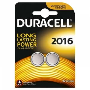 Batterie duracell al litio dl/cr2016 3v a bottone conf. 2pz