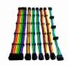 Set 7 prolunghe 30cm rainbow (24pin 4+4pin 4*pci-e 6+2 4*sata)
