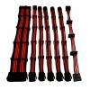 Set 7 prolunghe 30cm rosso (24pin 4+4pin 4*pci-e 6+2 4*sata)