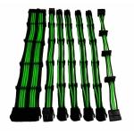 Set 7 prolunghe 30cm verde/bk (24pin 4+4pin 4*pci-e 6+2 4*sata)