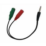 """Sdoppiatore audio jack 3,5"""" 1*m/2*f cuffie/mic per smartphone"""