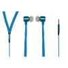 """Auricolari stereo con microfono jack 3,5"""" 1.2mt piatto tela blu"""