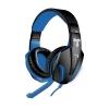 Cuffie gaming techmade tm-fl1-bl con microfono black/blue