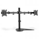 """Porta monitor doppio con piedistallo 17-32"""", 2 x 8 kg (max), nero"""