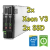 (refurbished) blade server hp bl460c gen 9 (2) xeon e5-2640 v3 2.6ghz 256gb ram 2x 240gb ssd