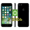 "(refurbished) apple iphone 7 32gb jet black a10 mn8x2ql/a 4.7"" nero lucido originale"