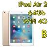 "(refurbished) ipad air 2 64gb gold wifi cellular 4g 9.7"" retina bluetooth webcam mh172ty/a [grade b]"