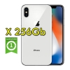 "(refurbished) apple iphone x 256gb silver a11 mqag2ql/a 5.8"" argento originale"