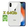 "(refurbished) apple iphone x 64gb silver a11 mqad2ql/a 5.8"" argento originale"