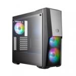 """Case masterbox mb500 argb, 2usb3 argb controll.+2to3splitter,2x2.5""""/2x3.5"""",2x120mmargb fr.fans 120mmargb r.fan,rad.supp.,no psu"""