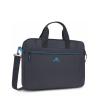 """Borsa per notebook 12/14"""" colore nero rivacase bordino azzurro"""