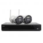 Kit sistema di sorveglianza nvr 8 canali + 2 telecamere (isw-k1n8bf2mp-2) wireless