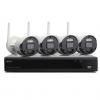 Kit sistema di sorveglianza nvr 8 canali + 4 telecamere (isw-k1n8bf2mp-4) wireless