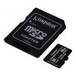 Micro sd 256gb 100mb/s kingston canvas sdcs2/256gb select+ ad.