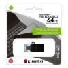 Pen drive 64gb usb 3.1 kingston dtduo3g2/64gb duo usb+microusb