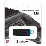 Pen drive 64gb usb 3.2 kingston dtx/64gb exodia