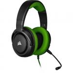 "Cuffie gaming con microfono corsair hs35 jack 3,5"" green"