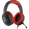 "Cuffie gaming con microfono corsair hs35 jack 3,5"" red"