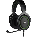 "Cuffie gaming con microfono corsair hs50 pro jack 3,5"" green"