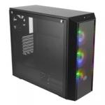 "Case masterbox 5 pro argb,2usb3,2xcombo 2.5""/3.5"" 2x2.5""ssd,incl.controller,3x argb fr.fans 120mm rear fan,radiator supp.,no psu"