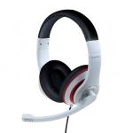 Cuffie microfono mhs-03-wtrdbk bianco/nero