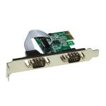 Scheda pci-express 2 porte seriali rs-232 9 poli con staffa normale e low profile