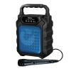 Cassa audio diffusore amplificato ricaricabile + microfono (hps 44b) blu
