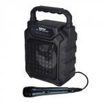 Cassa audio diffusore amplificato ricaricabile + microfono (hps 44) nero