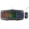 Kit tastiera e mouse gaming itek t20 a membrana rgb multimediale