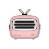 Cassa mini speaker altoparlante portatile bluetooth 4.2 vintage rosa