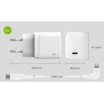 Caricatore silicon power qm10 18w 1*type-c pd + cavo apple mfi