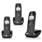 Telefono cordless gigaset as405 trio nero (as405trio)