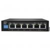 Hub switch 6 porte 10/100 con 4 poe 30w/p + 2p uplink 10/100