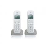 Telefono cordless dect brondi gala twin grigio/bianco