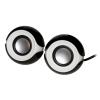 Speakers usb stereo black/white forma sferica link 2*3w