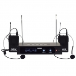 Doppio radiomicrofono ad archetto vhf set 6252lav-b (213,20 - 219,70 mhz)