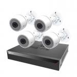 Sistema di sorveglianza nvr 8 canali (cs-bn3824a0-e30) nvr poe + 4 telecamere c3t
