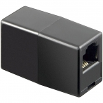 Accoppiatore telefonico rj11 2*f 6p4c nero