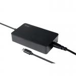 Alimentatore universale per notebook e dispositivi usb-c, pd - 90w, silm design