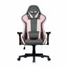 Cooler master gaming chair caliber r1s rose gray,pink&grey,pu traspirante,reclinabile da 90 a 180