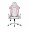 Cooler master gaming chair caliber r1s rose white,pink&white,pu traspirante,reclinabile da 90 a 180
