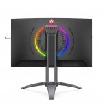 "Aoc monitor 27"" led va curvo 16:9 2560x1440 400cd/m 1ms hdmi/dp/vga/usb multimediale"