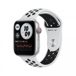 Apple watch nike series 6 gps + cellular, 44mm silver aluminium case with pure platinum/black nike s