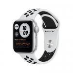 Apple watch nike se gps, 40mm silver aluminium case with pure platinum/black nike sport band - regul